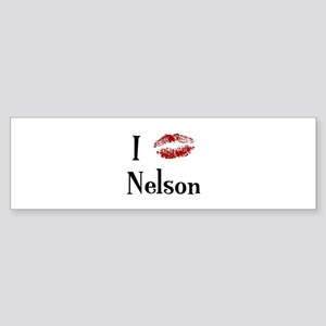 I Kissed Nelson Bumper Sticker
