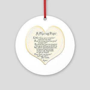 marriage prayer keepsake round