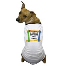 Color Outside The Lines Dog T-Shirt