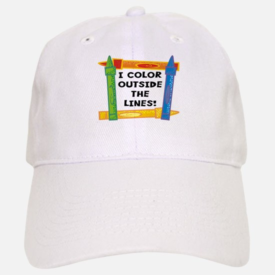 Color Outside The Lines Baseball Baseball Cap