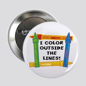 """Color Outside The Lines 2.25"""" Button"""