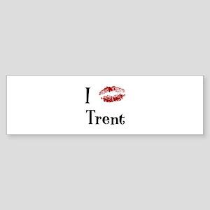 I Kissed Trent Bumper Sticker