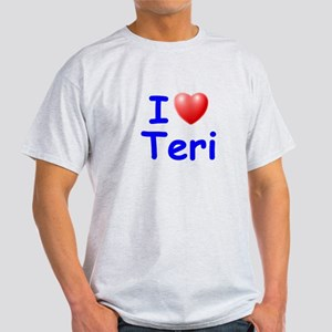 I Love Teri (Blue) Light T-Shirt