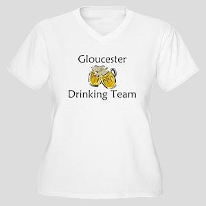 Gloucester Women's Plus Size V-Neck T-Shirt