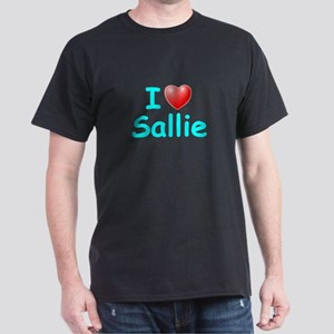 I Love Sallie (Lt Blue) Dark T-Shirt