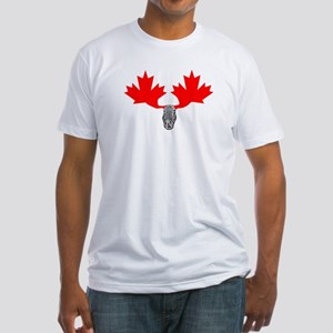 Canadian Maple Leaf & Moose Fitted T-Shirt