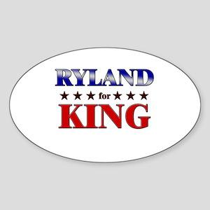 RYLAND for king Oval Sticker