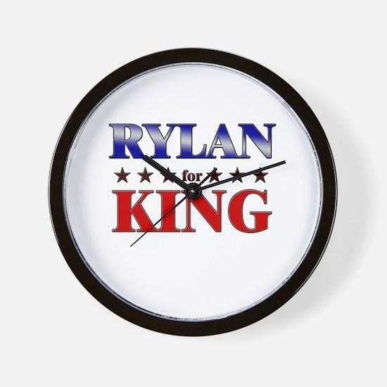 RYLAN for king Wall Clock