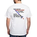 money to burn White T-Shirt