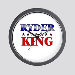 RYDER for king Wall Clock