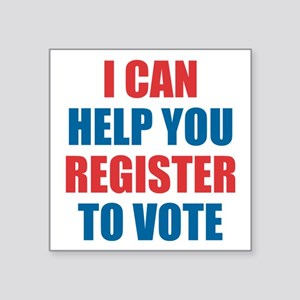 I Can Help You Register To Vote Sticker