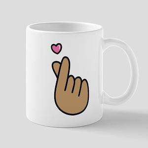Finger Heart Sign Mugs