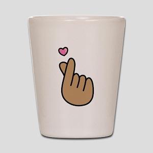 Finger Heart Sign Shot Glass