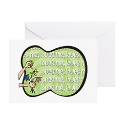 Loves Me Greeting Card