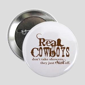 """Real Cowboys 2.25"""" Button"""