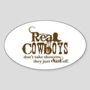 Real Cowboys Oval Sticker