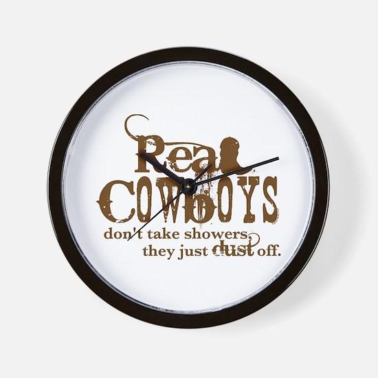 Real Cowboys Wall Clock