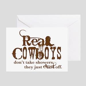 Real Cowboys Greeting Card