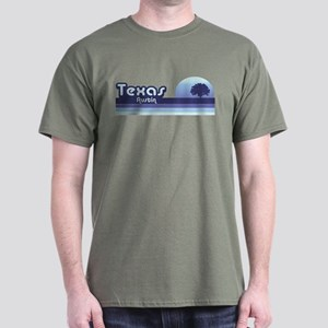 Austin Texas Blue Retro Dark T-Shirt