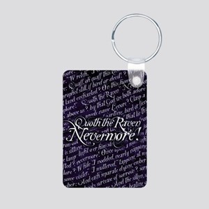 Poe Nevermore Text Pattern Keychains