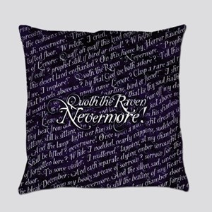 Poe Nevermore Text Pattern Everyday Pillow