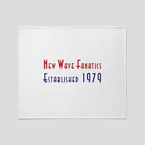 New Wave Fanatics Logo Red Blue Whit Throw Blanket