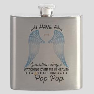 My Pop Pop Is My Guardian Angel Flask