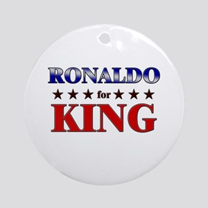RONALDO for king Ornament (Round)