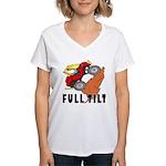 FULL TILT Women's V-Neck T-Shirt