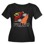 FULL TILT Women's Plus Size Scoop Neck Dark T-Shir