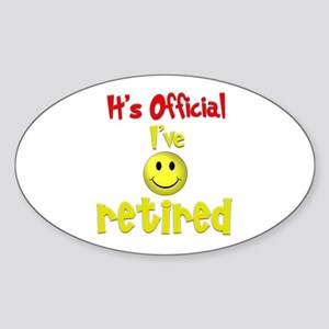 Officially Retired.:-) Oval Sticker