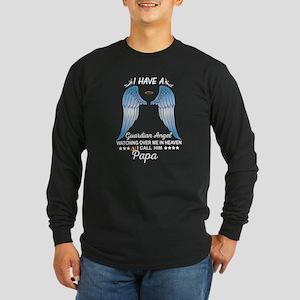 My Papa Is My Guardian Angel Long Sleeve T-Shirt