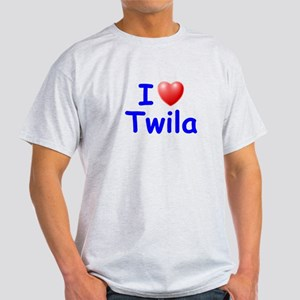 I Love Twila (Blue) Light T-Shirt