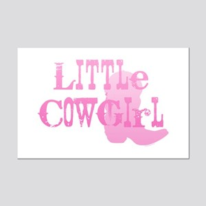 Little Cowgirl Mini Poster Print