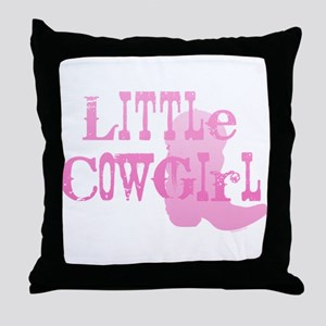 Little Cowgirl Throw Pillow