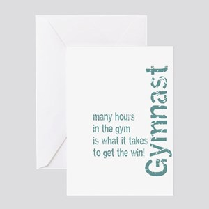 Time in the Gym - Blue Greeting Card
