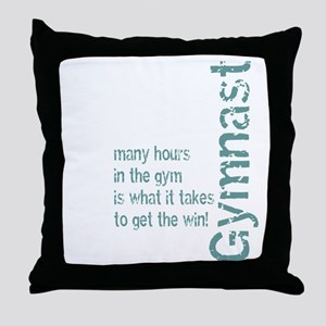 Time in the Gym - Blue Throw Pillow