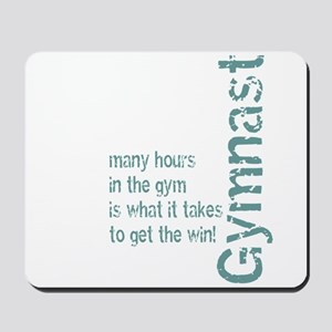 Time in the Gym - Blue Mousepad