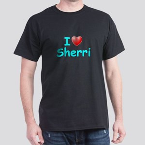 I Love Sherri (Lt Blue) Dark T-Shirt