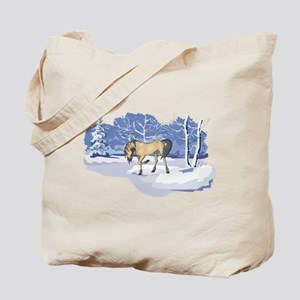 Scenic Winter Andalusian Christmas Tote Bag