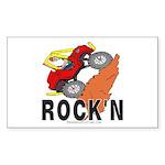ROCK'N Rectangle Sticker