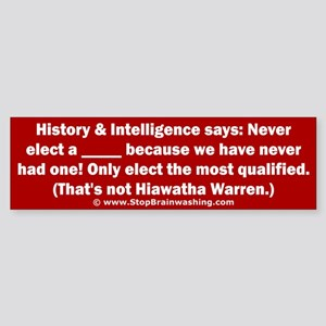 Hiawatha Warren Sticker (Bumper)