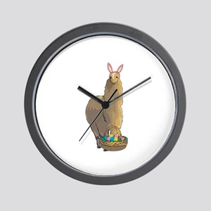 Happy Easter Alpaca Wall Clock