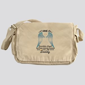 My Daddy Is My Guardian Angel Messenger Bag