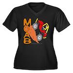MOAB WILLY Women's Plus Size V-Neck Dark T-Shirt
