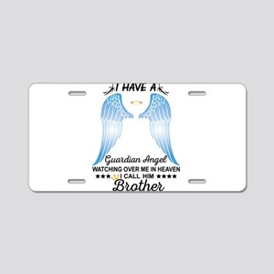 My Brother Is My Guardian Angel Aluminum License P
