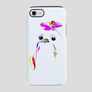 colorful poodle iPhone 8/7 Tough Case