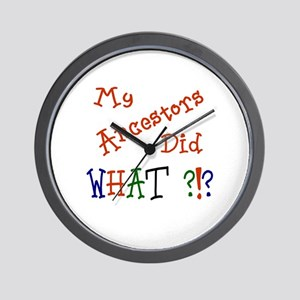 Did What? (red) Wall Clock
