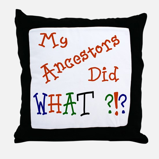 Did What? (red) Throw Pillow