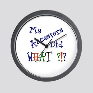 Did What? (blue) Wall Clock